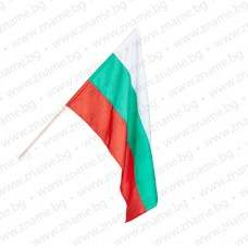 Знаме на България 40/66 см. с дървена пръчка