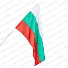 Знаме на България 50/83 см. с дървена пръчка