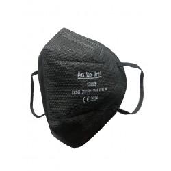Защитна черна петслойна маска/респиратор за лице тип FFP2 / N95 с CE сертификат 2834