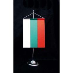 Настолна стойка от хром-никел с двулицево знаме - хоругва