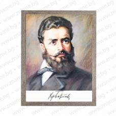 Голям портрет с лика на Христо Ботев