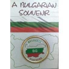 Значка с карта на България