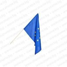 Знаме на ЕС 30/50 см. с дървена пръчка