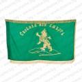 Знаме за Априлското въстание ушито от Райна Княгиня със златни ресни