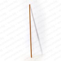 Дървена стругована и лакирана делима дръжка за знаме