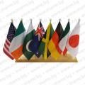 Дървена настолна стойка с 8 знамена