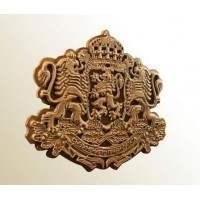 Дървен герб на България