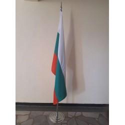 Интериорна стойка за зала от метал за едно знаме - 220 см.