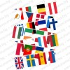 Комплект от 28 знамена на лента на страните членки на ЕС