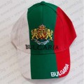 Трикольорна шапка България с бродиран герб и надпис Bulgaria