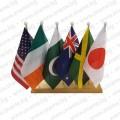 Дървена настолна стойка с 6 знамена